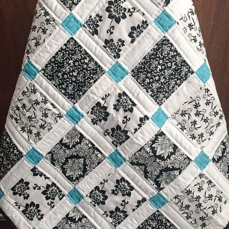 Just a Touch of Color   Quilts, Quilt patterns, Teal quilt
