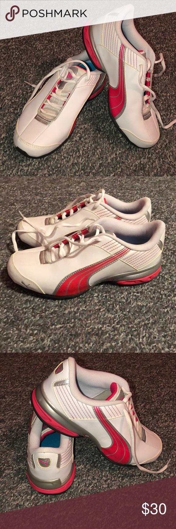 5f0e92ebed2 Puma running eco ortholite White and pink- no tags but never worn Puma  Shoes Sneakers
