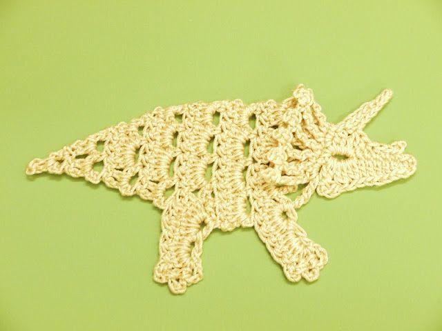 Crochet Dinosaur Free Applique Pattern Crochet Amigurumi