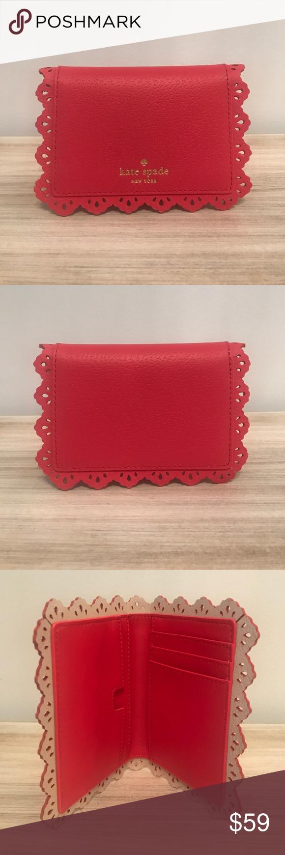 "Kate Spade Cecelia Fordham Court Card Case Wallet NEW WITH TAGS Kate Spade Cecelia Fordham Court Card Case Wallet in Geranium Pumice! 5.25"" W, 3.5"" H kate spade Bags Wallets"