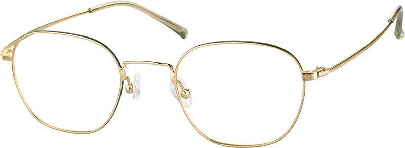 Gold Square Glasses #3218414 | Zenni Optical Eyeglasses