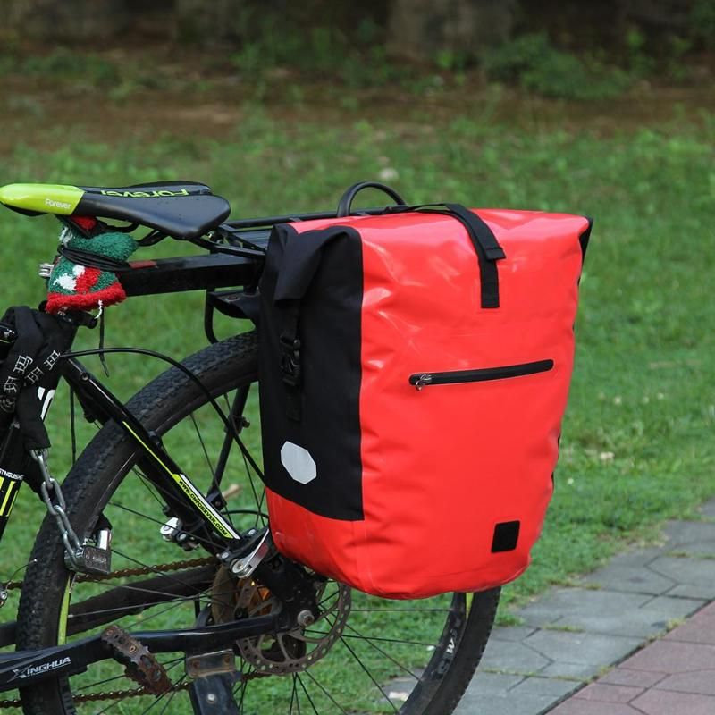 Waterproof Double Panniers Bag Bike Bicycle Cycling Rear Seat Saddle Package USA