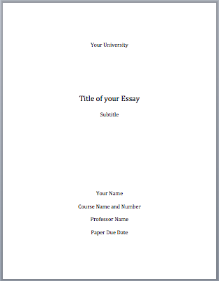 Good Title Page  Underfontanacountryinncom Title Mla Format Cover Page Good Information For High Schoolers  Essay Term Paper also Pay Some To Do My School Work  Academic Writing Company