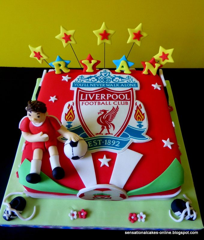 Sensational Cake Singapore Online Cakes Singapore Liverpool Football Club 3d Birthday Cake For Ryan 3d Birthday Cake Liverpool Cake Birthday Cakes For Men