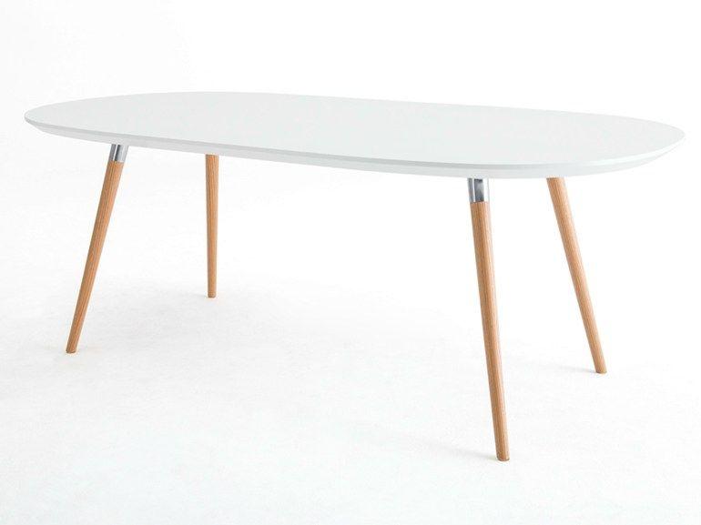 Tavolo Ovale Design : Tavolo ovale in legno collezione flux by grado design furnitures