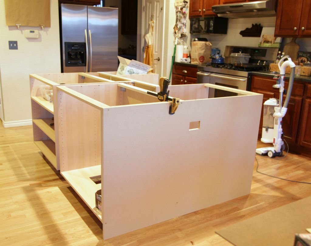 When We Made The Decision To Rip Out Our Existing Island We Had Planned On Paying A Contractor To Custom Kitchen Island Build Kitchen Island Ikea Kitchen Sink