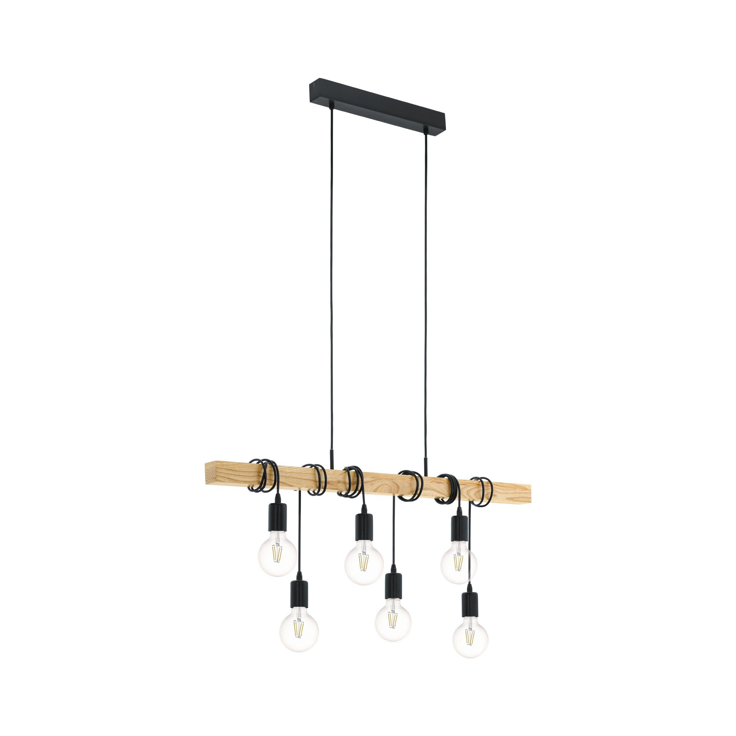 Eglo Hanglamp Townshend 6 Lichts Zwart Eiken Kopen Hanglampen Karwei Hanglamp Binnenverlichting Plafondverlichting