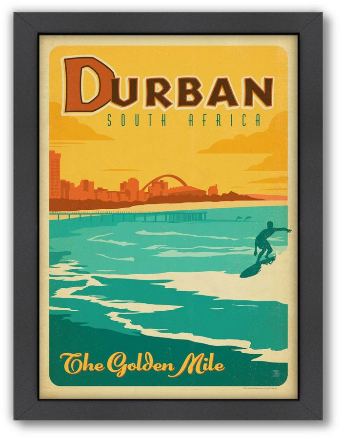 World Travel Durban, South Africa Framed Wall Art by Anderson Design ...