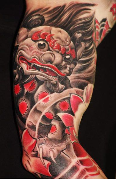 Mask Attoo By Boris Tattoo Post 1729 Foo Dog Tattoo Tattoos Foo Dog Tattoo Design