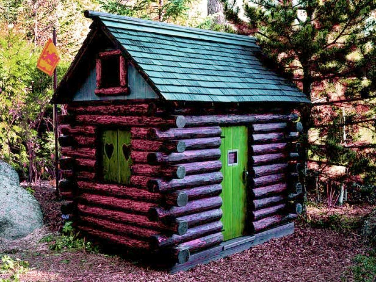 Image result for how to build a kid log cabin