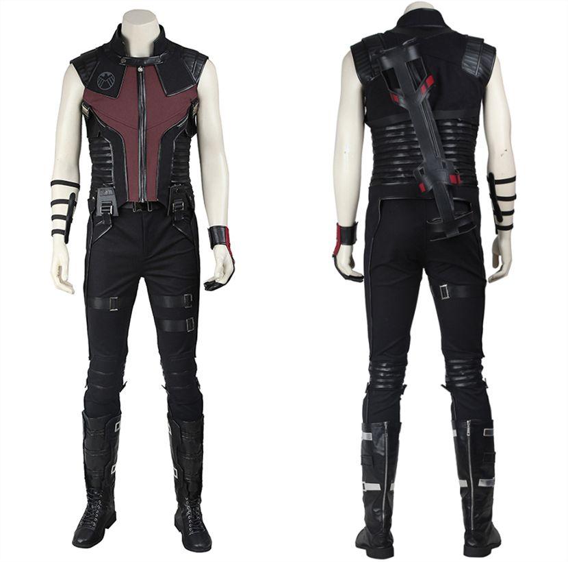Captain America Hawkeye Vest V2 Avengers Infinity War Faux Leather Vest Costume