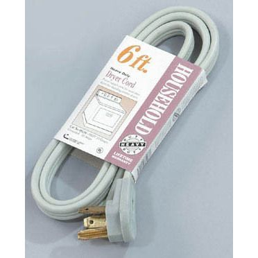 Coleman Cable 09126 6' Dryer Cord