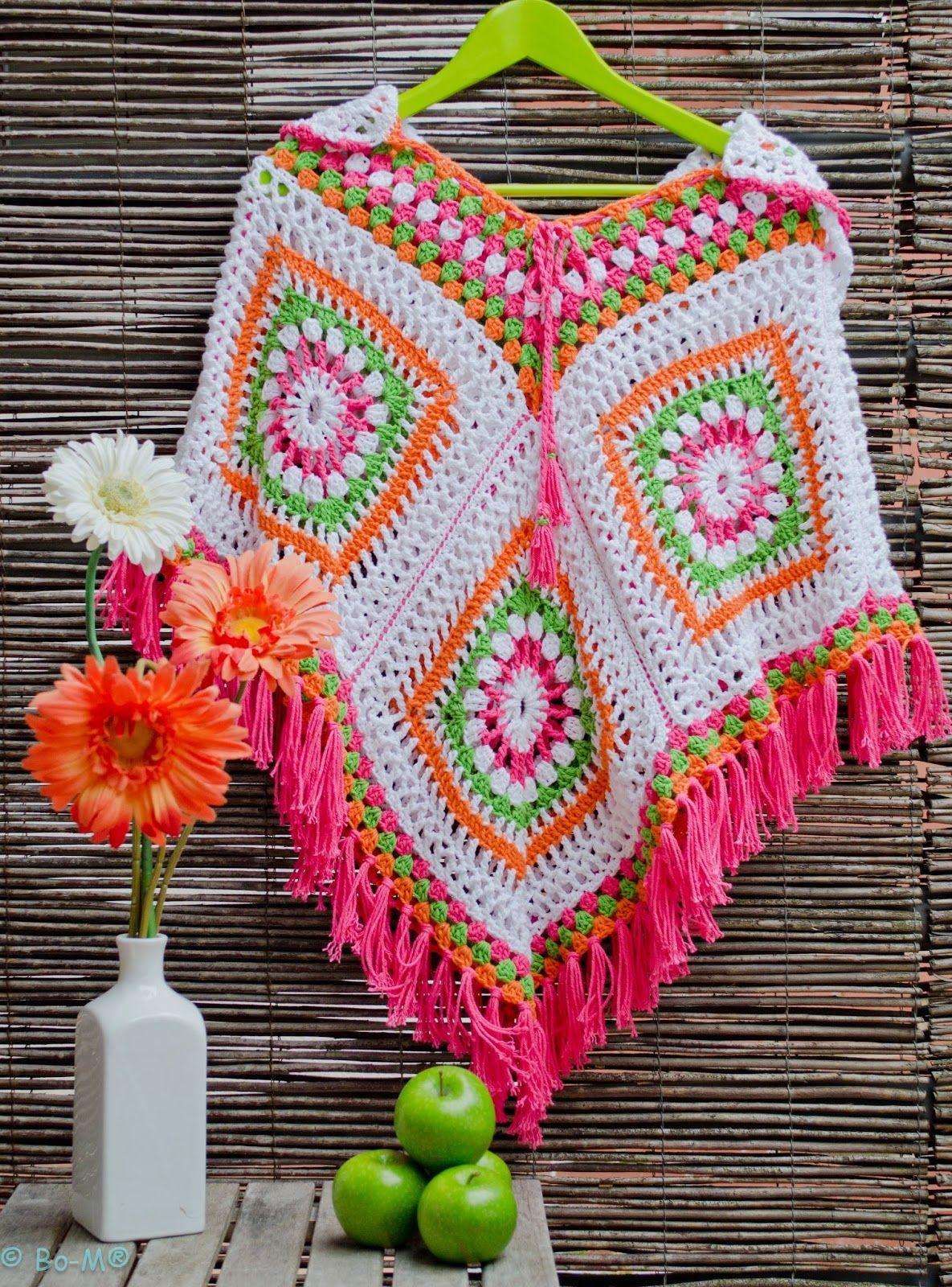 Feito à mão em Crochet | shawl | Pinterest | Oberteile, Häkeln und ...
