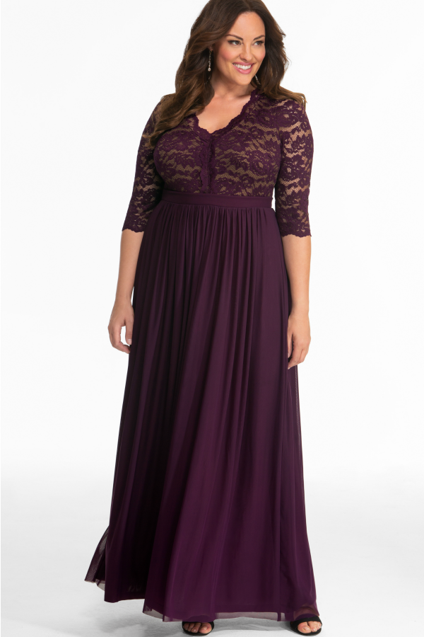 The Compliments Will Roll In With Our Plus Size Jasmine Lace Evening Gown A Classic Gown W Plus Size Evening Gown Lace Evening Gowns Evening Dresses Plus Size