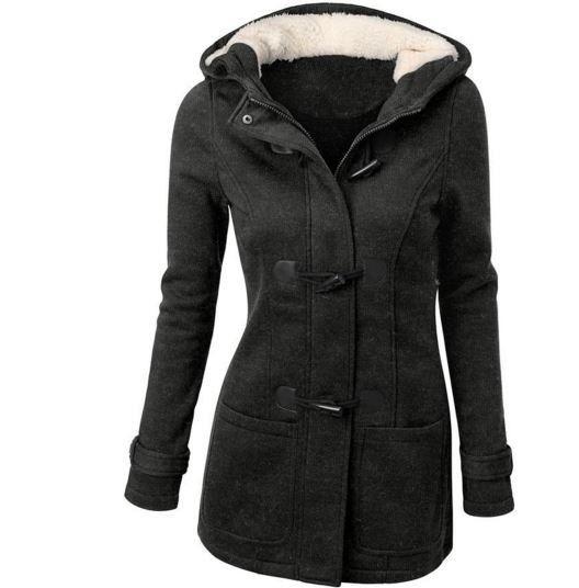 Moderní kabát parka s kožíškem tmavě šedá + POŠTA ZDARMA Na