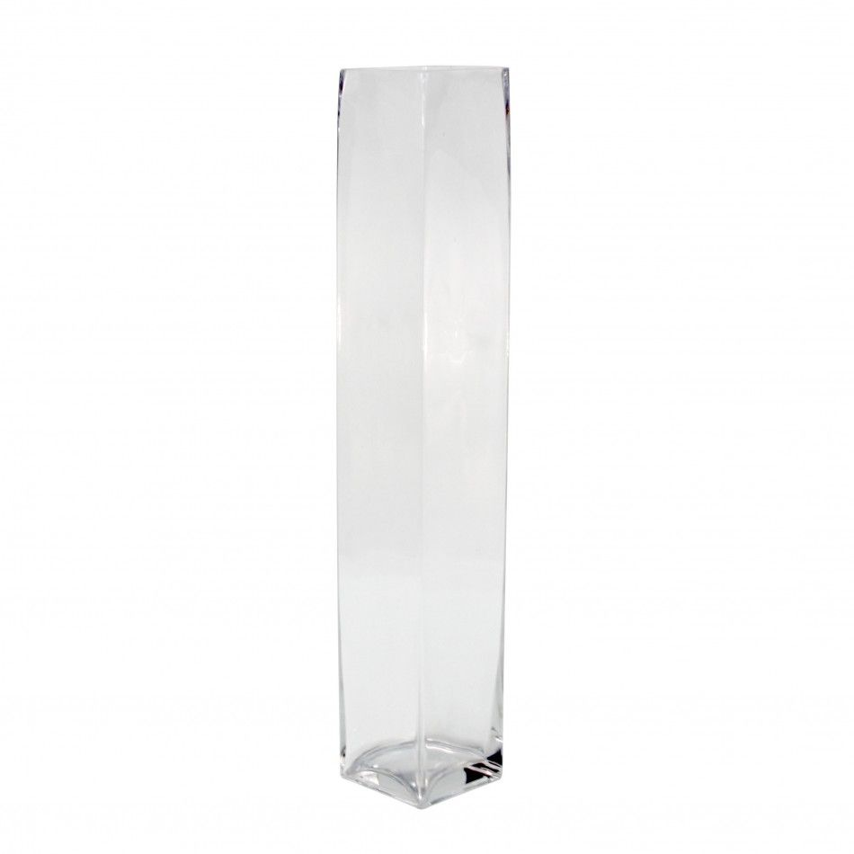 4 x 24 glass tall square vase case of 6 this 24 clear gem koyal wholesale tall square glass vases 4 by clear floridaeventfo Image collections