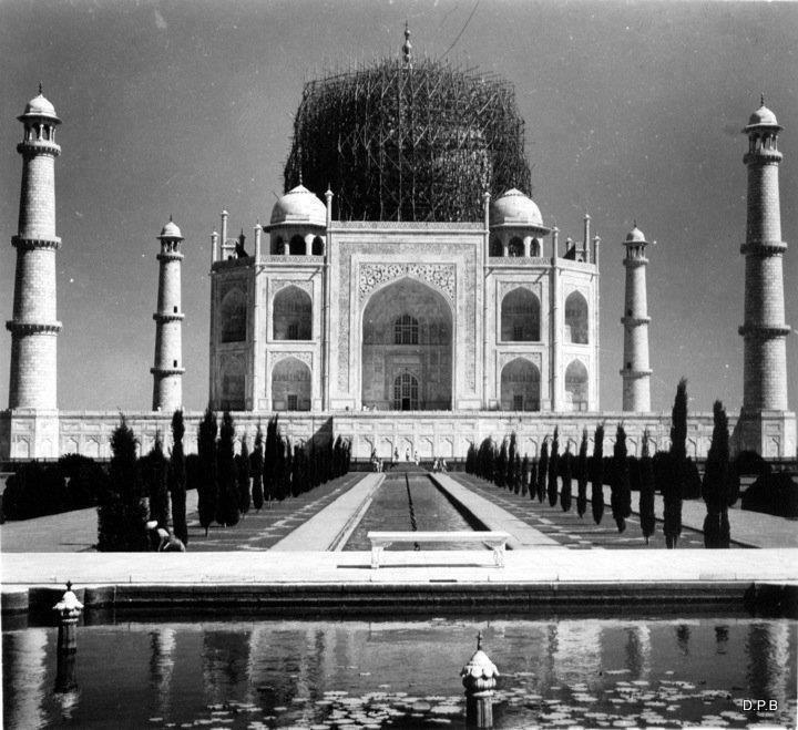 Taj Mahal en construcción