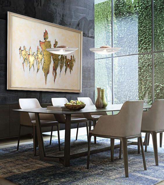 Beliebtes Interieur Esszimmer Tisch Design Malerei