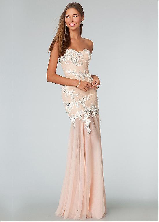 Unique Tulle Sweetheart Neckline Floor-length Mermaid Prom Dress ...