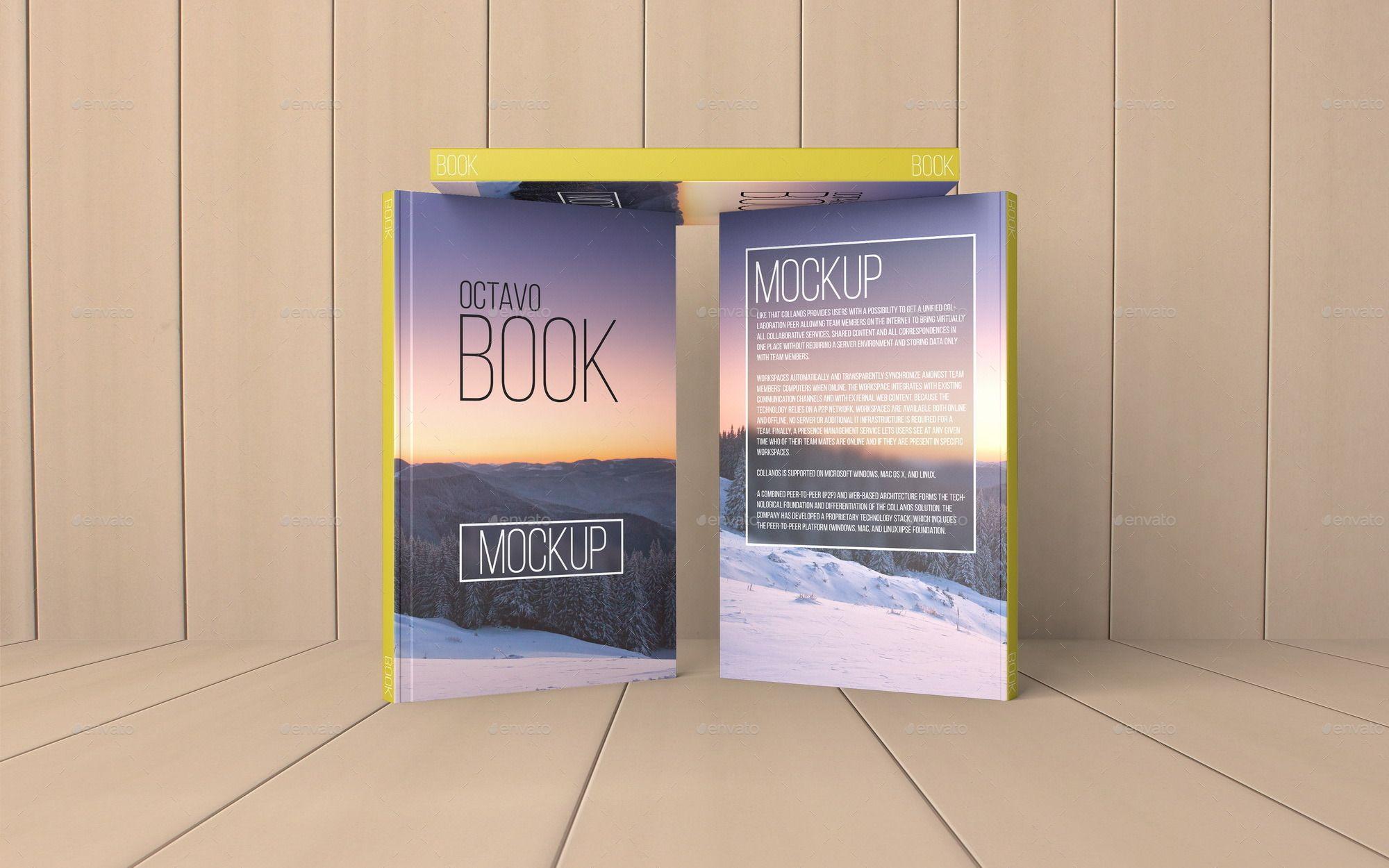 Octavo Book MockUp Set.1 Mockup, Mocking, Cover design