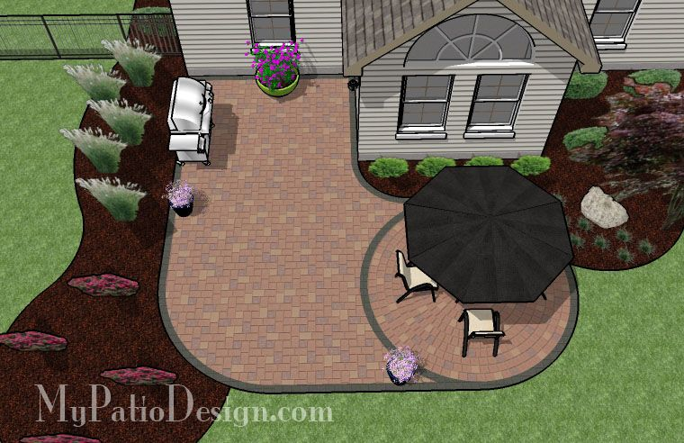 """L"" Shaped Patio Design - Patio Designs & Ideas   Backyard ... on L Shaped Backyard Layout id=45963"