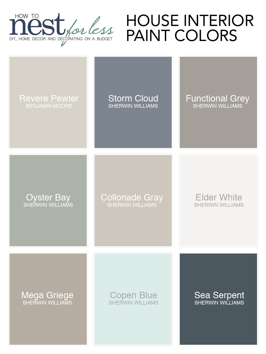 Best Paint Color For Playroom All The Paint Colors I Use In My House How To Nest For