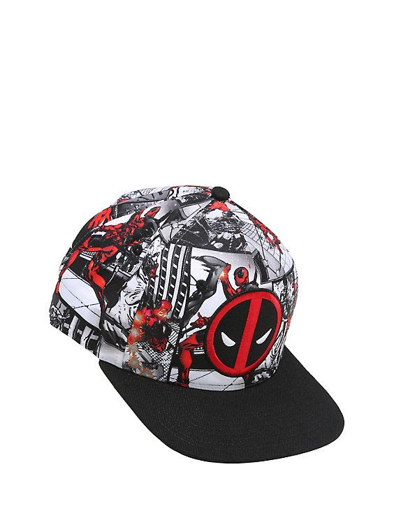 official photos ee72d bf152 Marvel Deadpool Comic Panel Logo Snapback Hat,