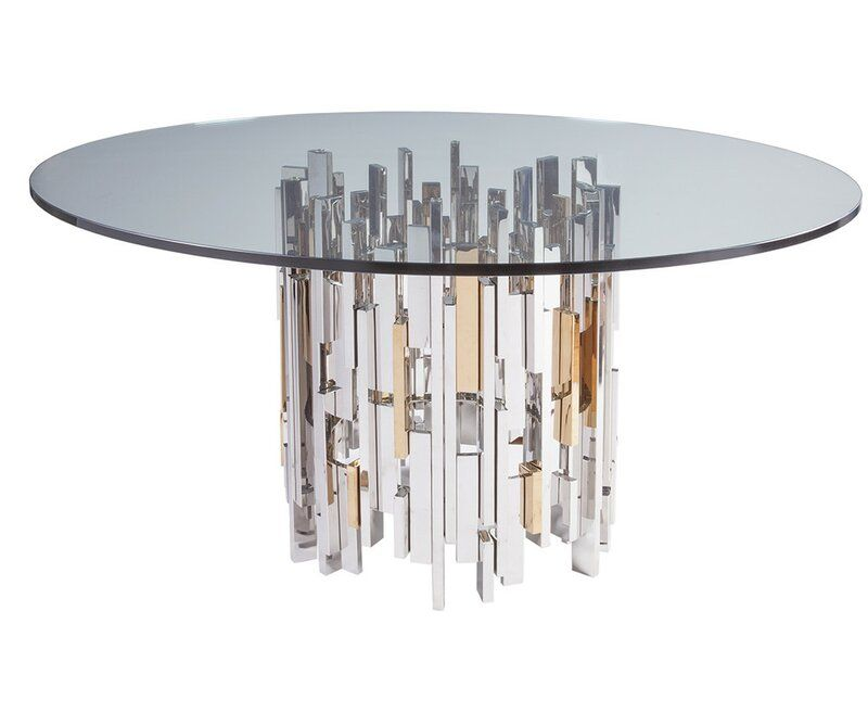 Signature Designs Dining Table Glass Round Dining Table Dining