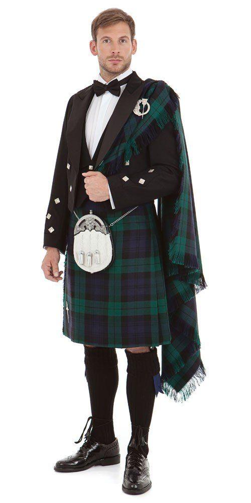 40819aaaaada Scottish highland dress with fly plaid.