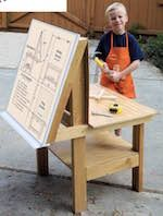 Easel with workbench pdf easelchildrens workbenchdiyfree easel with workbench pdf easelchildrens workbenchdiyfree woodworking plans solutioingenieria Images