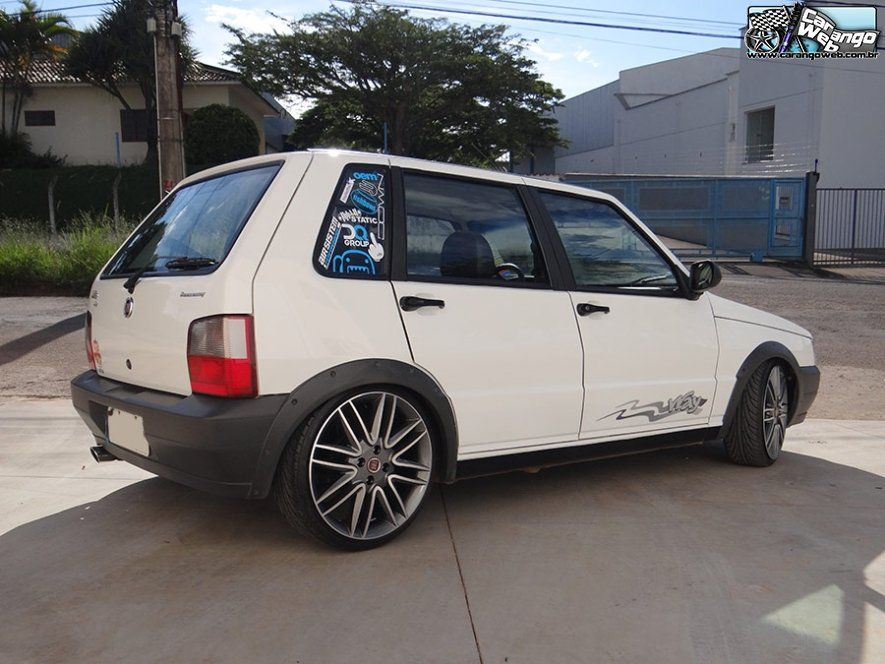 Fiat Mille Way Rebaixado Rodas 17 Do Punto Sporting Fiat Uno