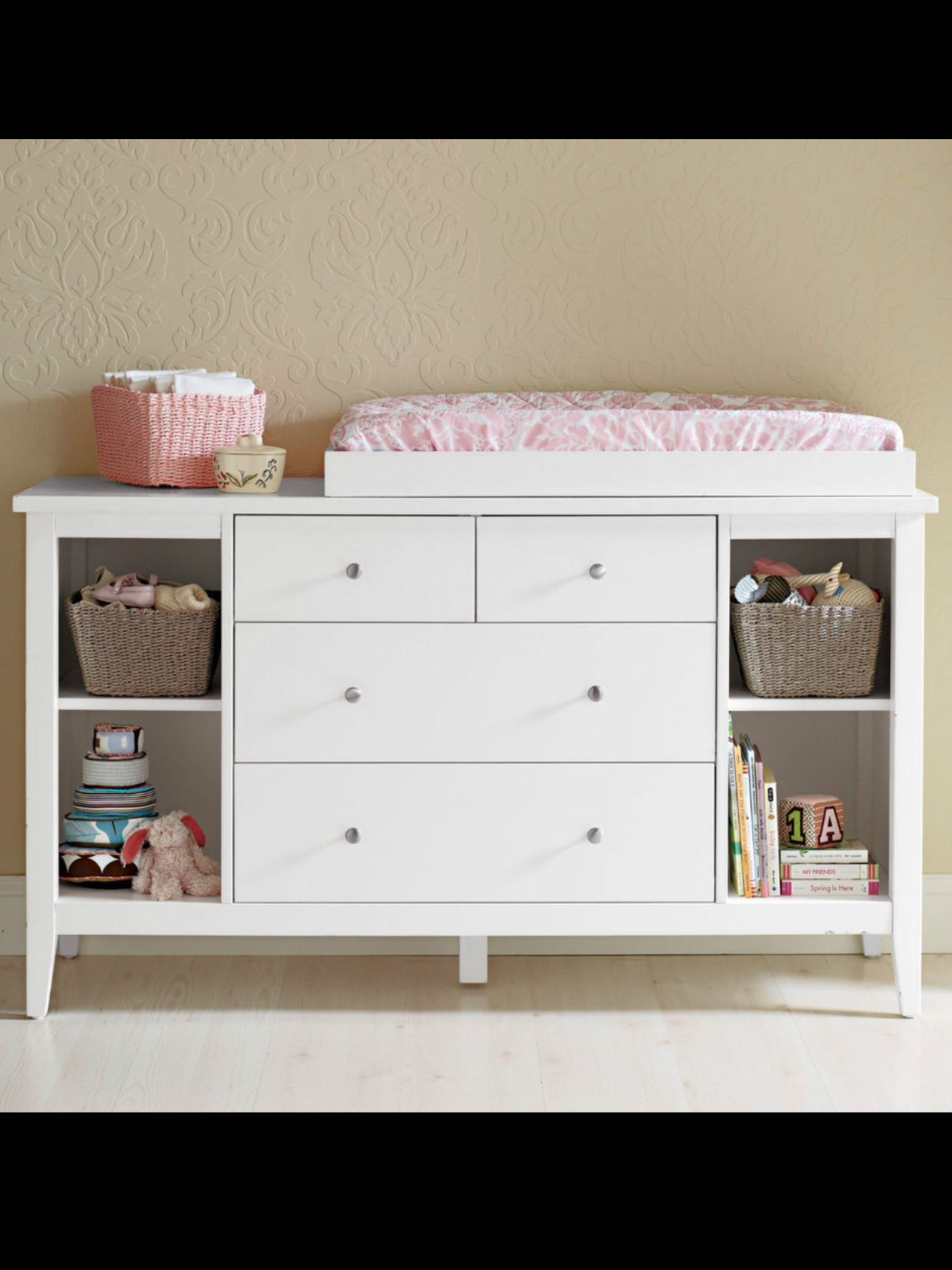 Chest Of Draws Modern White Ebay Changing Table Dresser Baby