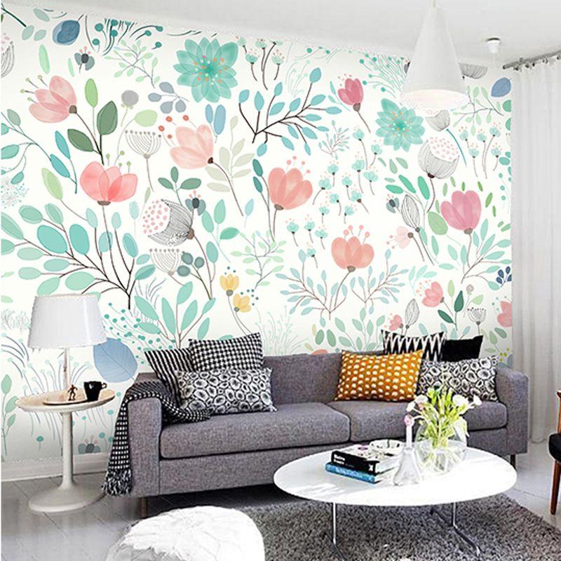 Watercolor Flowers Floral Wall Murals Wallpaper Wall Mural Spring