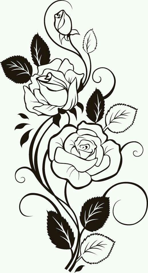Pin de Samantha Pruitt en stencil patterns | Pinterest | Rosas ...