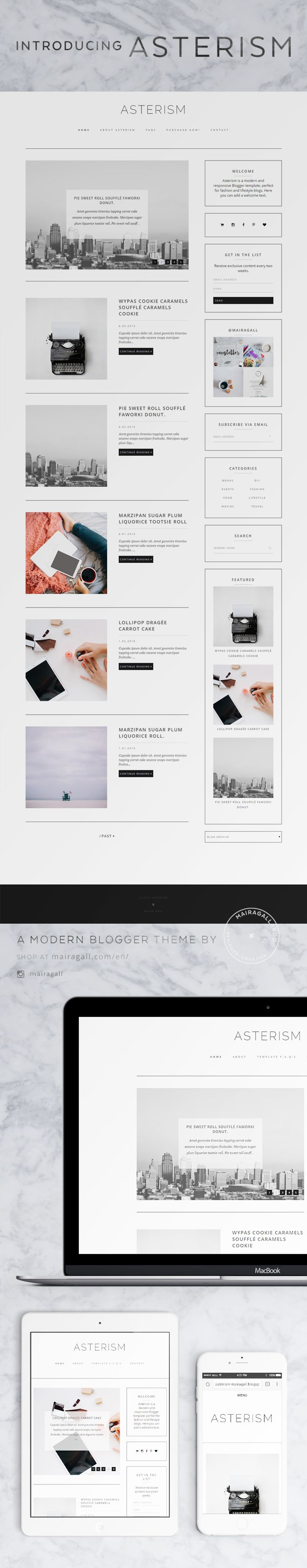 Modern Blogger template, perfect for fashion blogs. Blog layout ...
