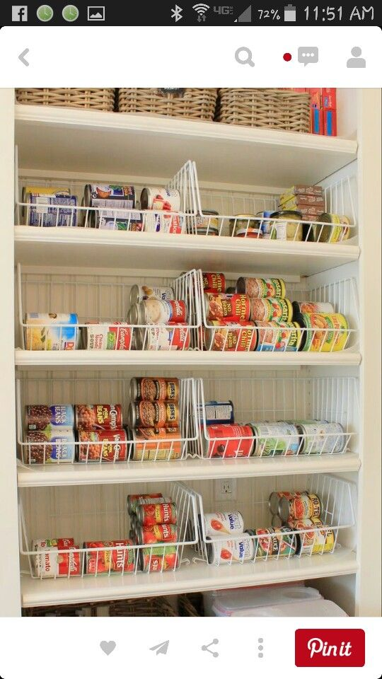 Pantry baskets | If you are not organized you are nothing! | Pinterest