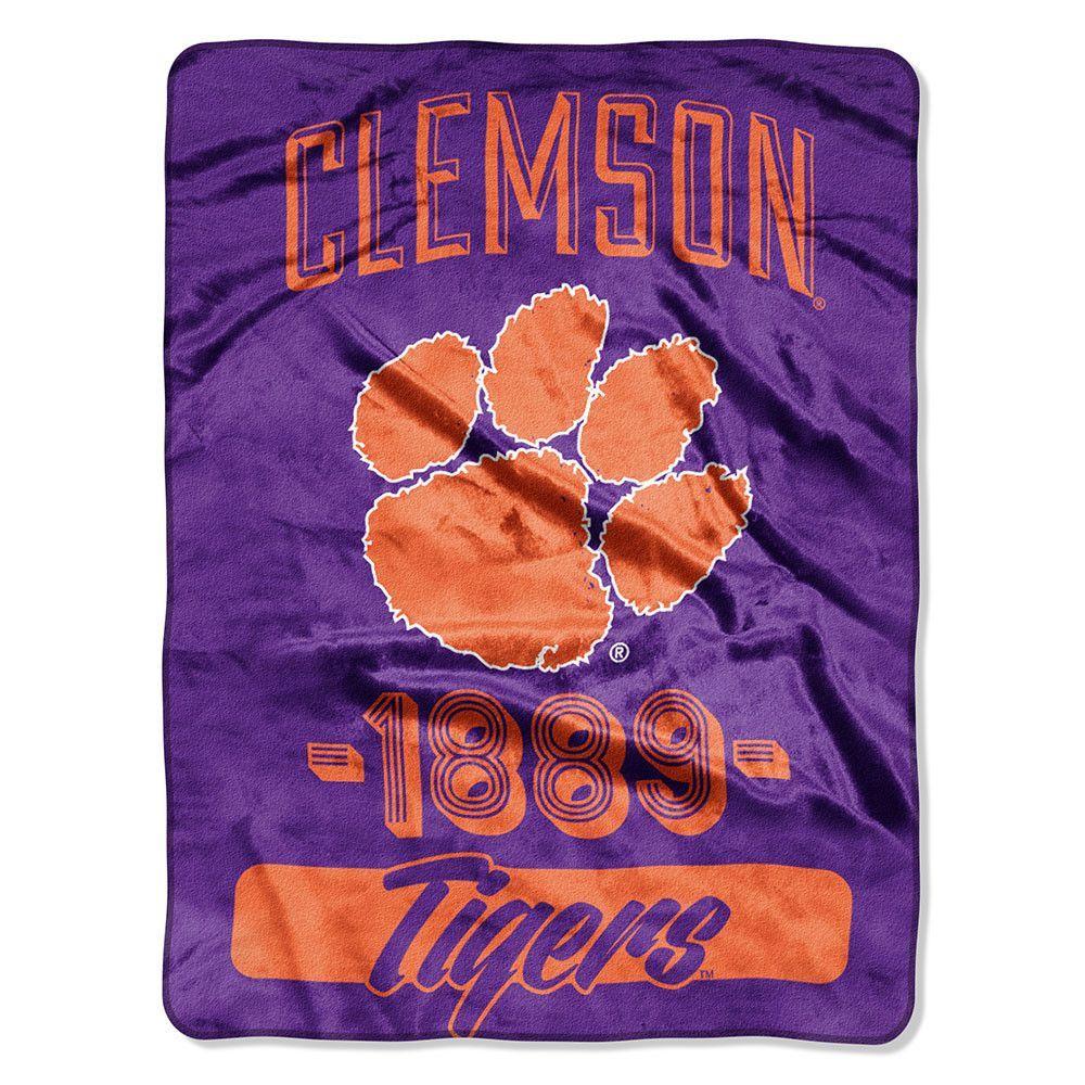 New! Clemson Tigers Micro Raschel Blanket (46in x 60in) #ClemsonTigers