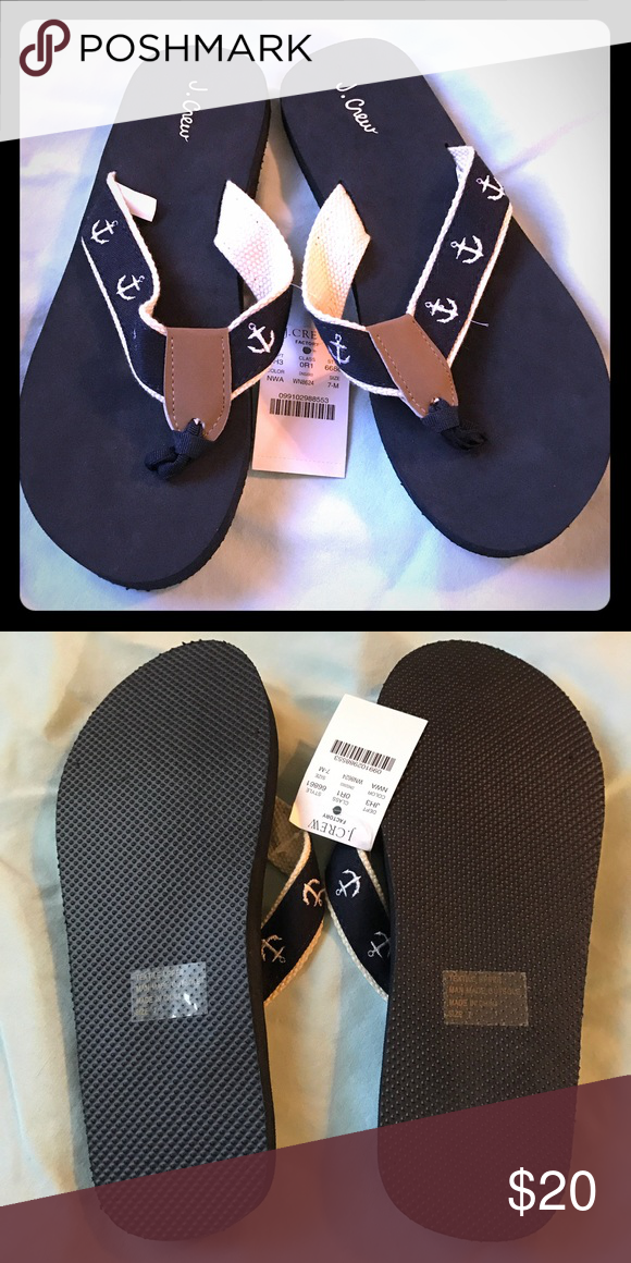c2b44c0b92ae NET J Crew Navy Anchor Flip Flops Size 7 New with tags! J Crew Navy Anchor  Flip Flop Sandals Size 7 Smoke-free and pet-free home J. Crew Shoes Sandals