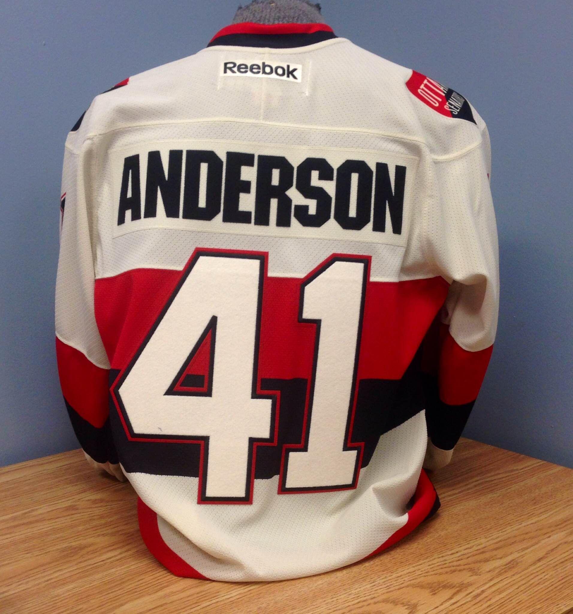 best service 6fadf caed7 Craig Anderson Ottawa Senators Heritage Classic Licensed ...