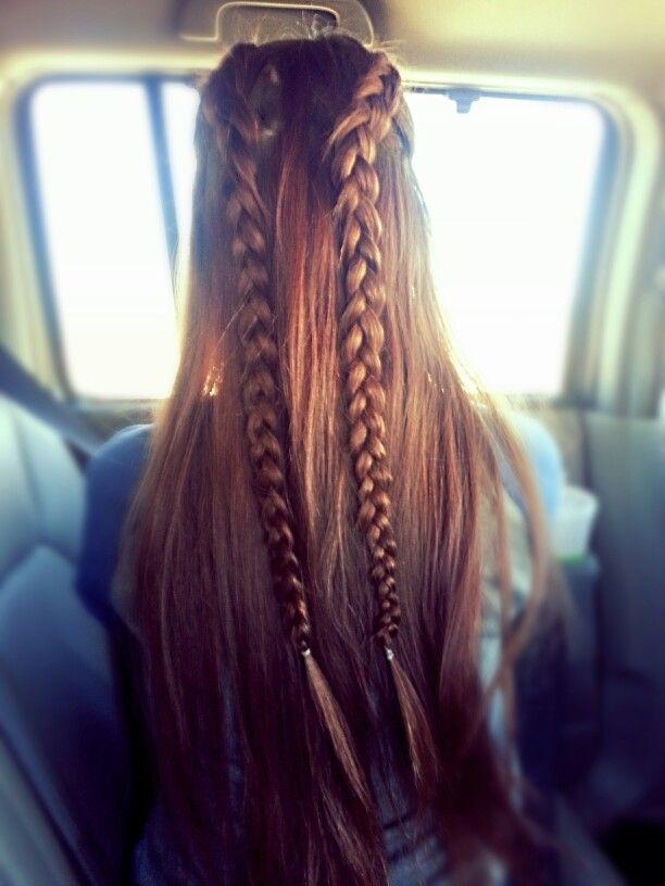 Dutch Half Braid Braided Hairstyles Hair Styles Braids For Long Hair