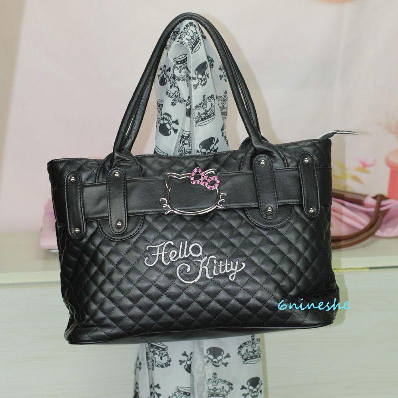 eeb8f96a2f Fashion Lovely Lady Hello Kitty Purse Shopping School Hand Bag Present  Black GOT IT!