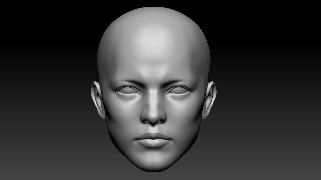 zbrush anime face: Zbrush Male Face Sculpt 지브러쉬 남자 얼굴 연습