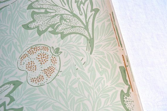 Morris & Co Wallpaper  Mint Green Leaf and by Pumpkintruckpaper