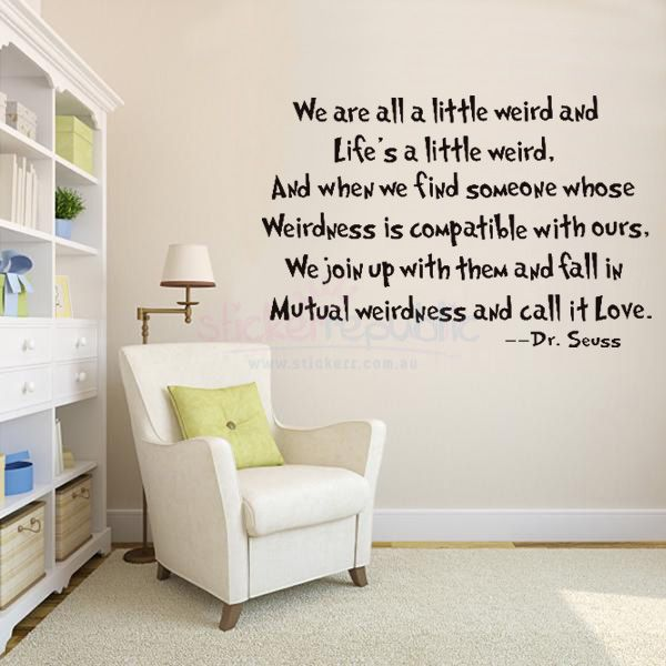 Quotes U0027Life Is A Little Wiredu0027 By Dr Seuss Wall Sticker