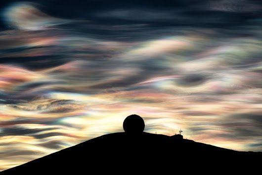 Nuages nacrés stratosphériques en Antarctique
