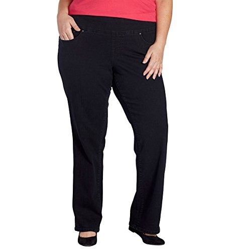 360aeb93dc392 Jag Jeans Womens PlusSize WM Peri Pull On Straight Black Void 14W -- You  can get additional details at the image link. (Note Amazon affiliate link)   Jeans