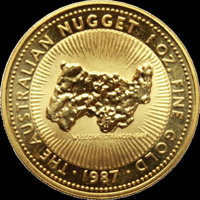 1987 1 oz Australian Gold #Nugget
