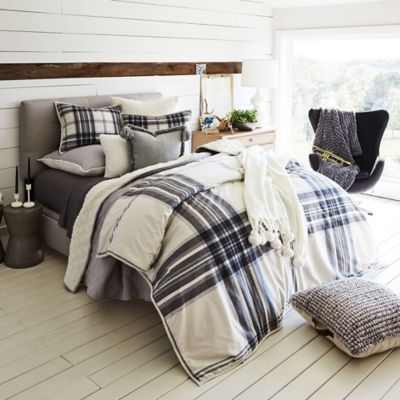 03cb4df315d Give your bedroom a stylish update with the UGG Tarni Plaid Reversible Comforter  Set. The classic and cozy bedding showcases a large scale plaid print on ...