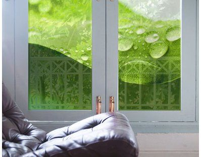 Drops of Nature Window Mural. Drapes and curtains will be a ghost of the past! yourdecoshop multi-coloured, photo-realistic window murals are suitable for all windows, glass and mirror surfaces. They also protect you from prying eyes of passers-by.