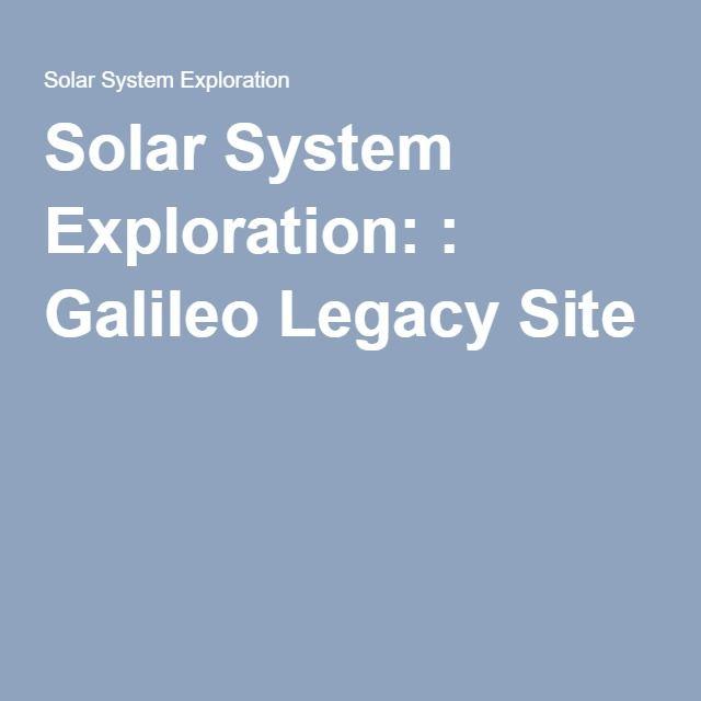 Galileo - Overview | Solar system exploration, Solar ...